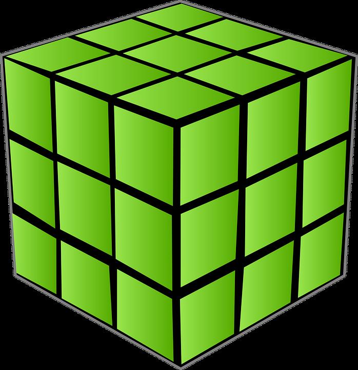 одноцветный куб