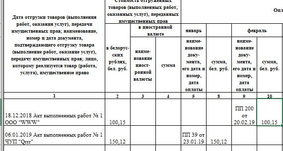 указание в КУДИР перенесенных остатков с прошлого года