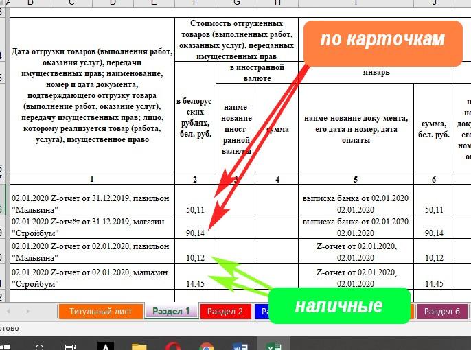 Ведение учёта КУДИР УСН по двум торговым объектам